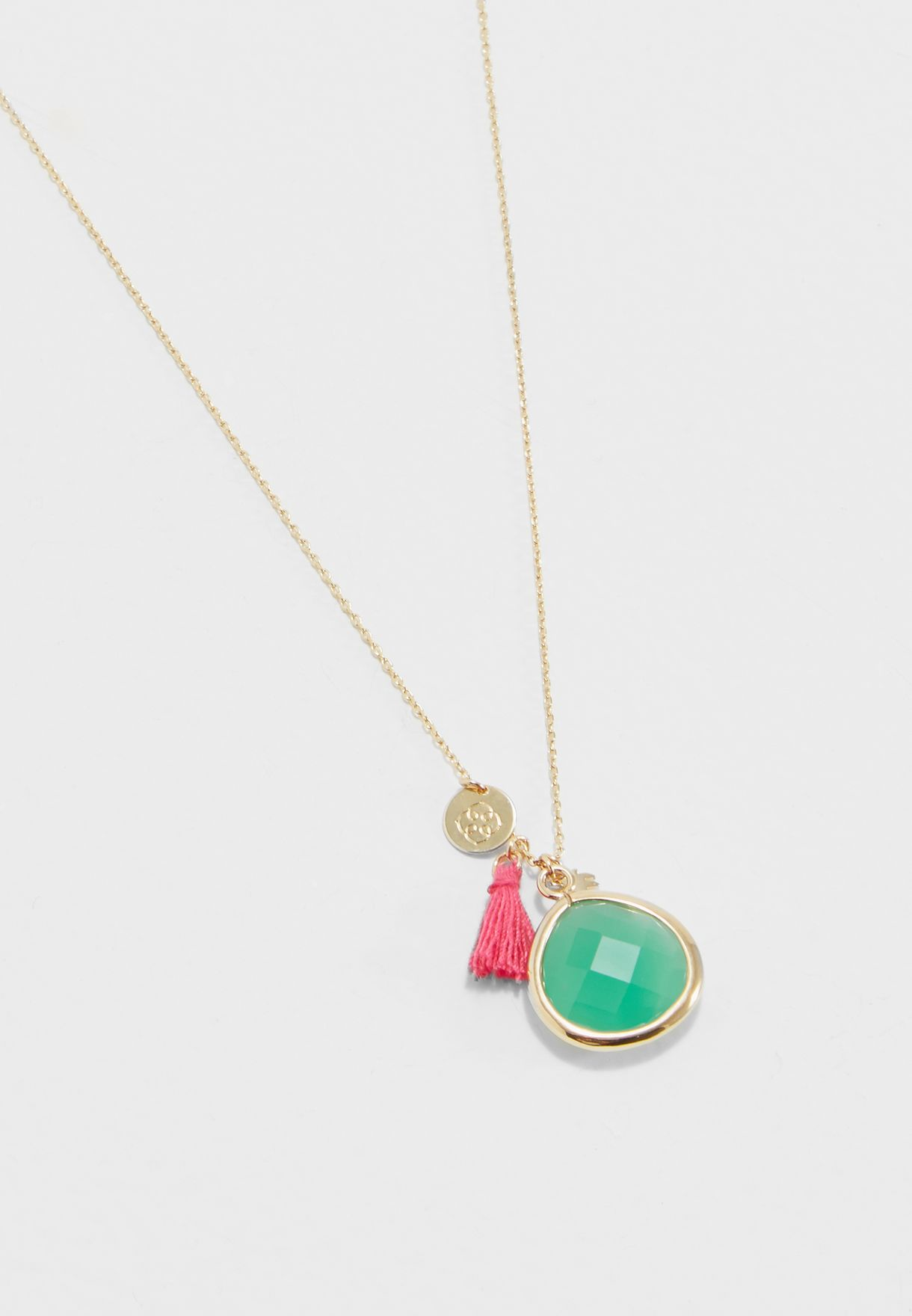 Long Summer Charm Necklace