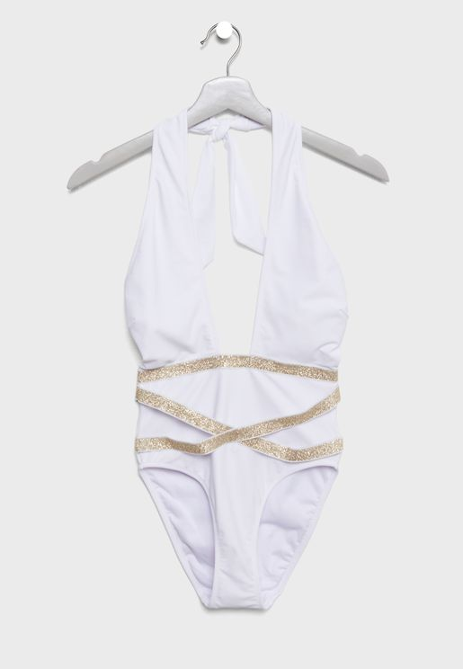 Wrap Belted Swimsuit
