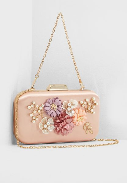 Embellished Frame Clutch