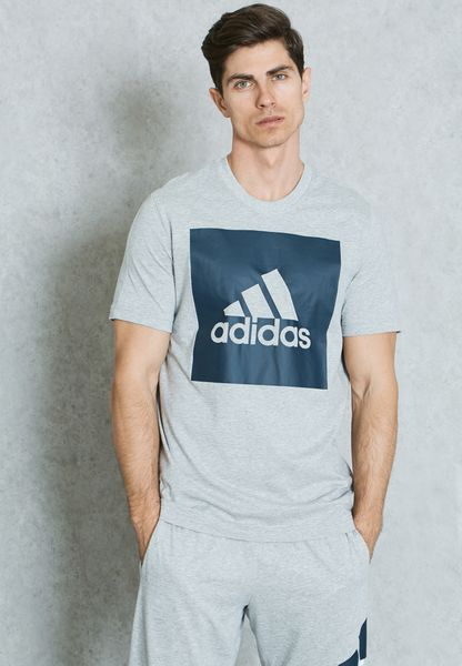 Shop adidas grey Essential Big Logo T-Shirt S98725 for Men in Globally -  AD476AT04VLB