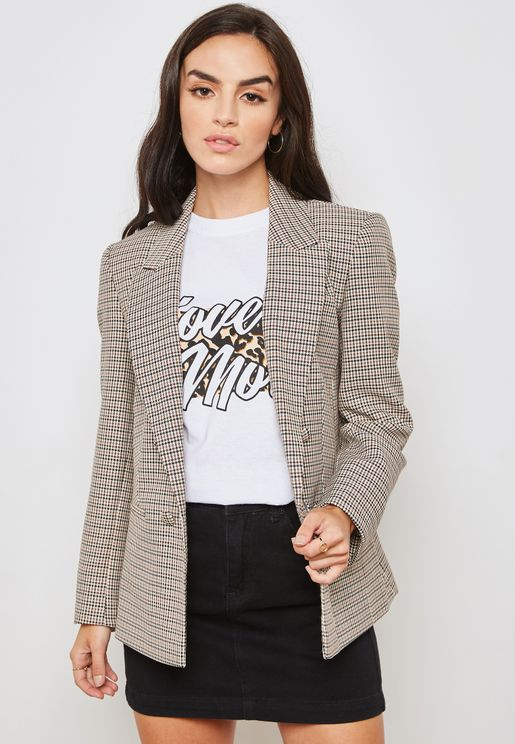 Heritage Checked Double Breasted Blazer