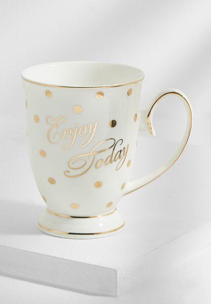Enjoy Today Mug With Spots