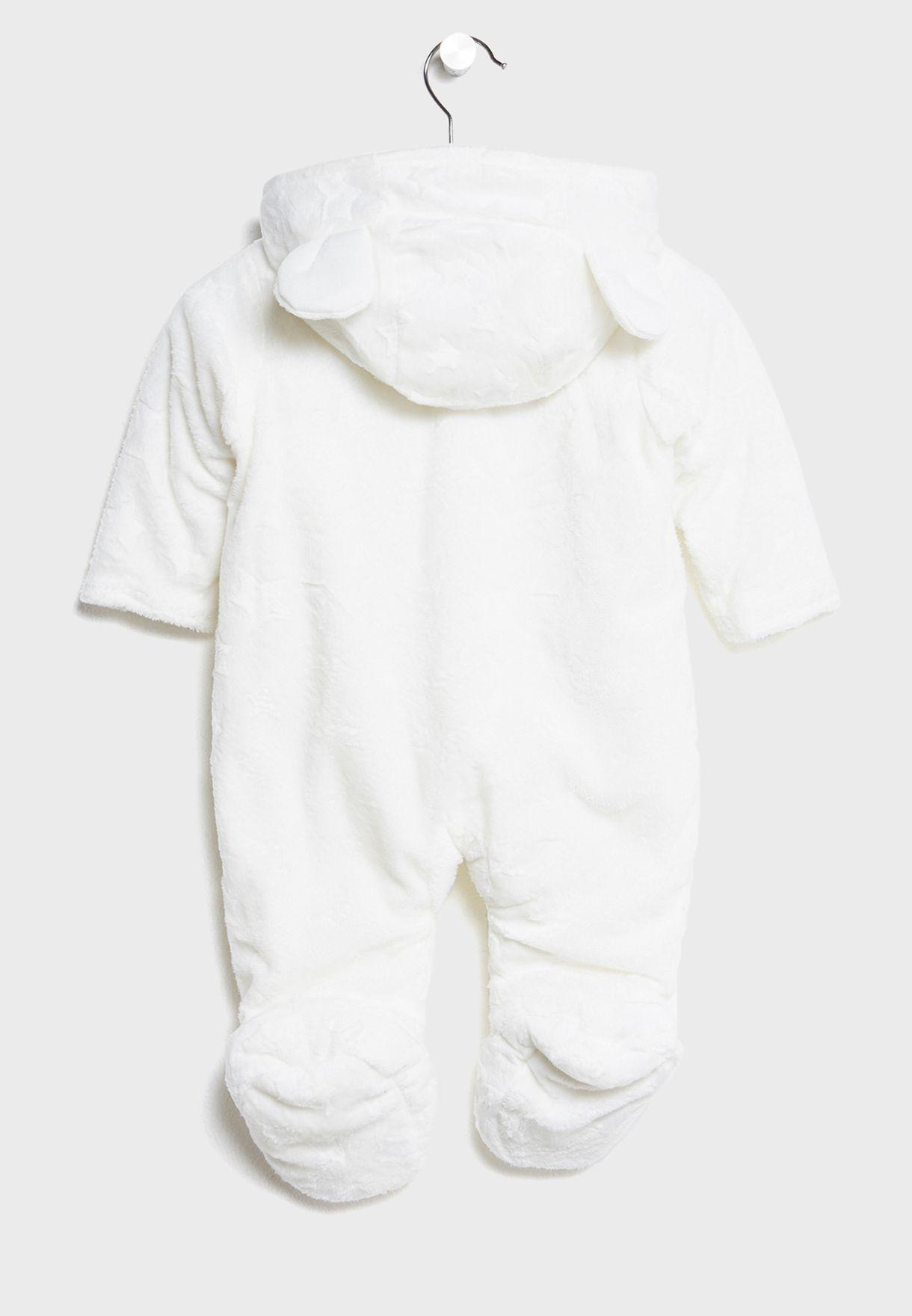 28c581eca Shop Minoti white Infant Fur Snowsuit MOON 1 for Kids in Bahrain ...