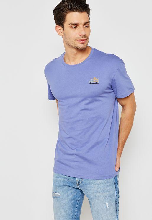 Cart  Crew Neck T-Shirt