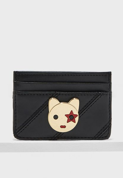Leather Studs & Mascot Card Holder