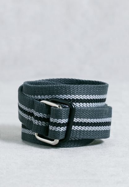 Striped Casual Belt