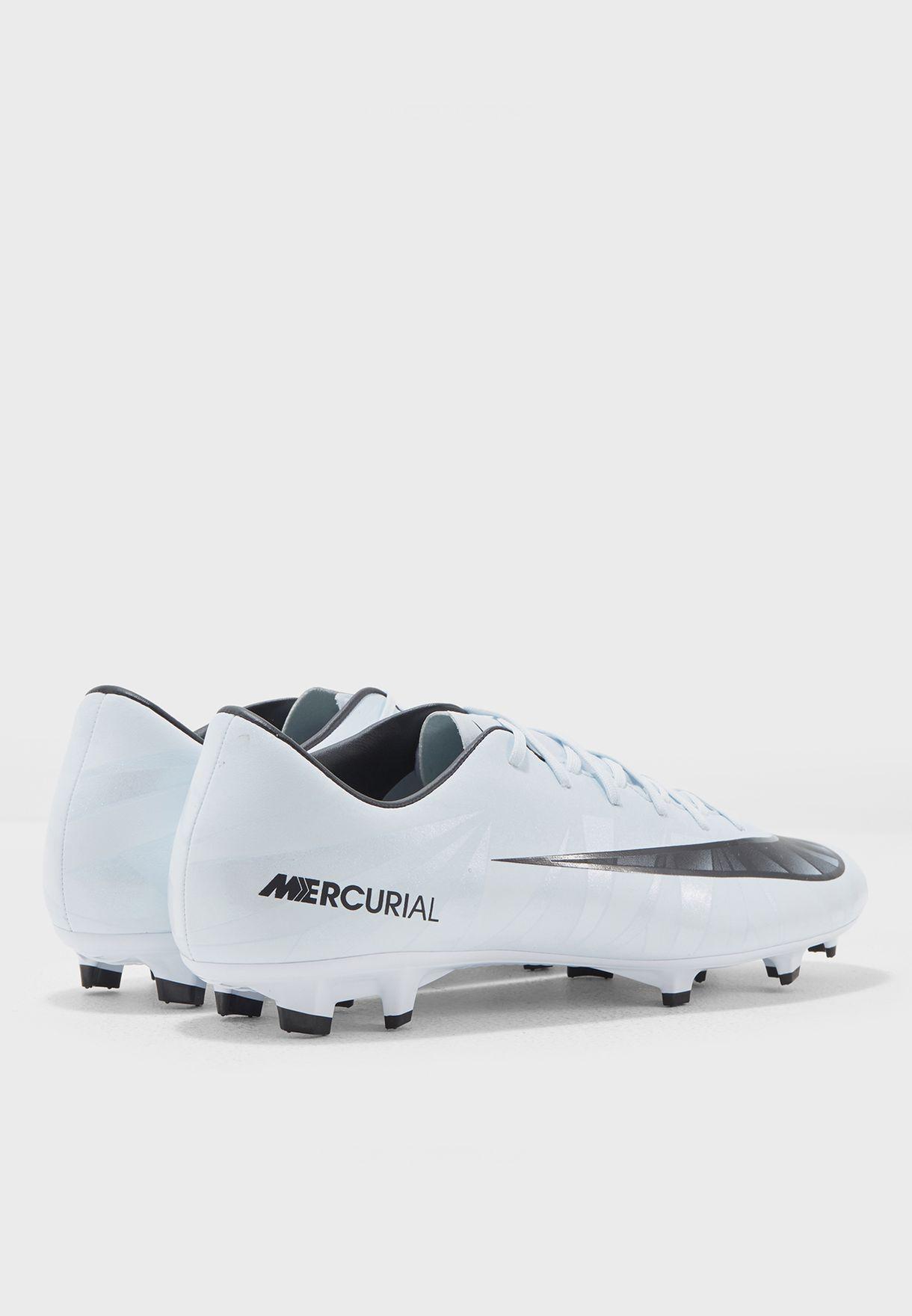 2c5984536 Shop Nike white Mercurial Victory VI CR7 FG 852528-401 for Men in ...