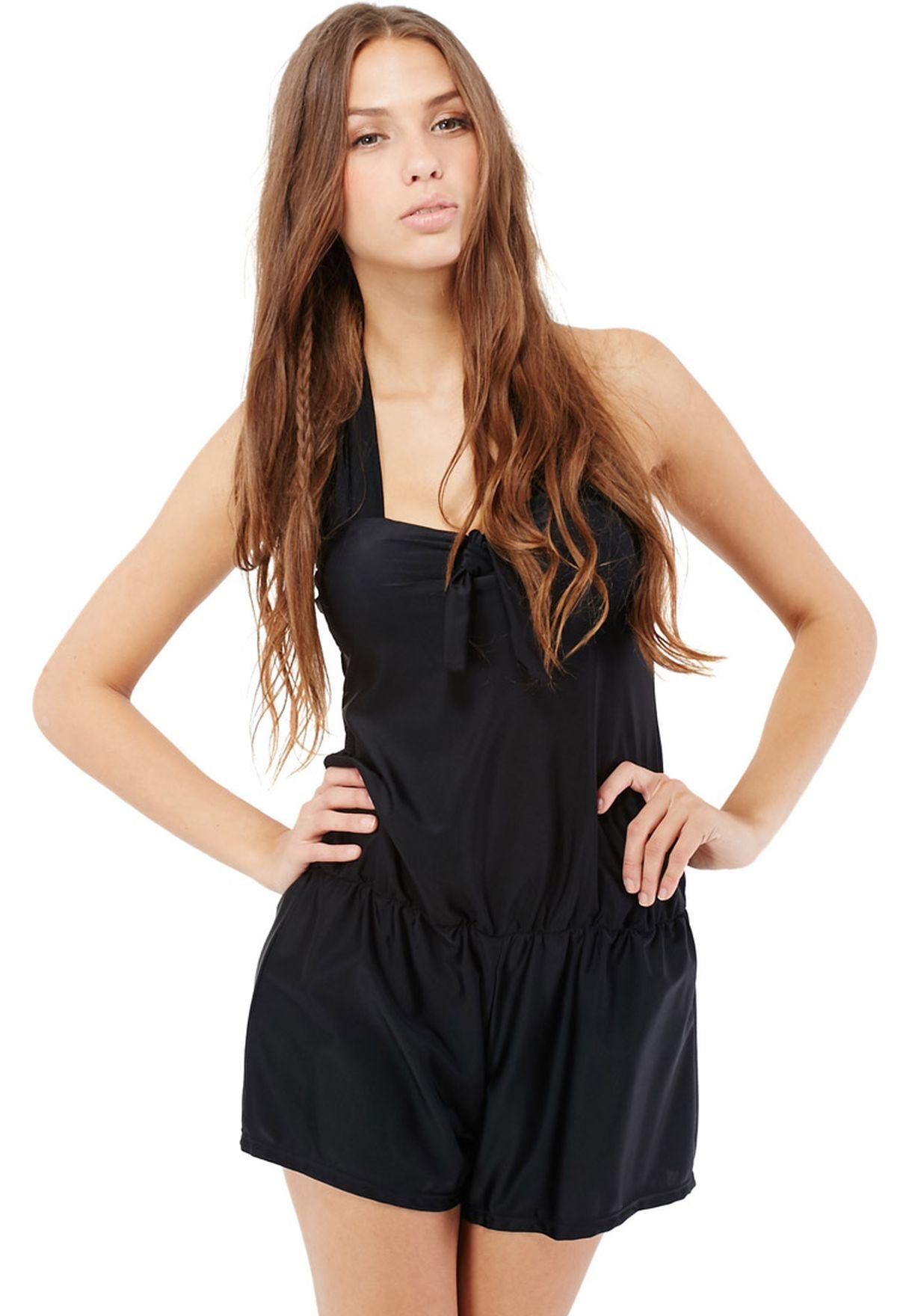 0560dbc6f78 Shop Ginger black Halter Beach Playsuit for Women in Oman - GI121AT04CKD