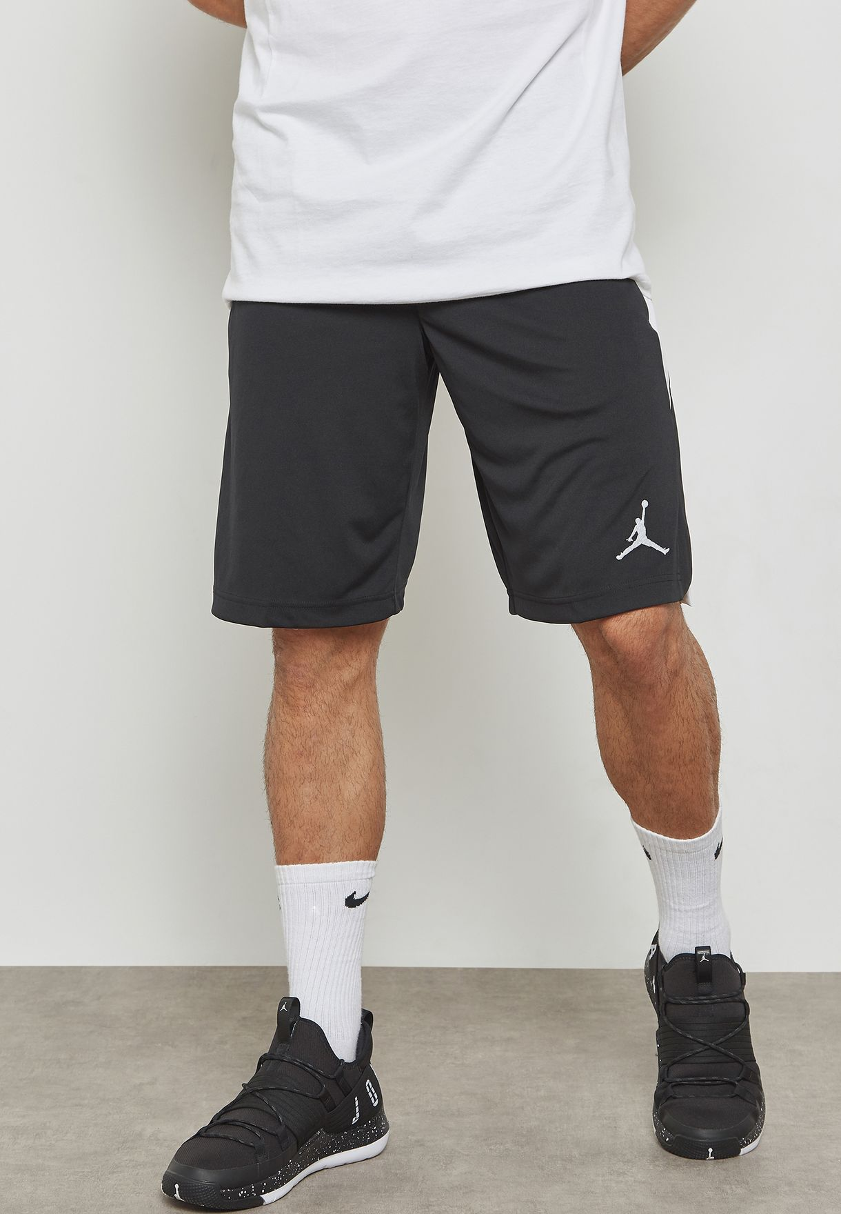 fc97ca68514 Shop Nike black Jordan 23 Alpha Dri-FIT Knit Shorts 905782-013 for ...