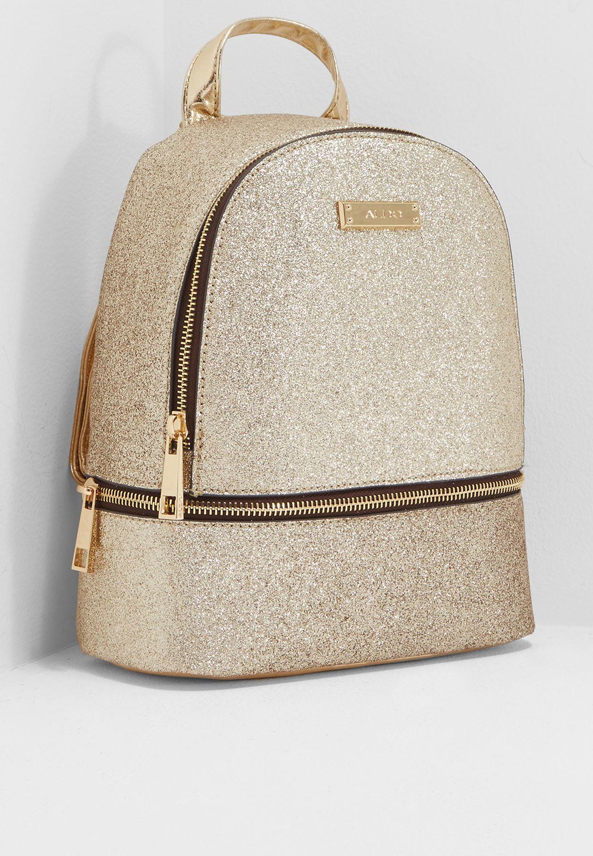 6d23db3cc0f Shop Aldo gold Tragole Backpack TRAGOLE85 for Women in UAE ...