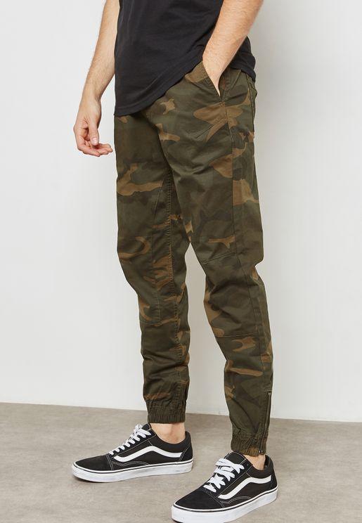 Vegs Camo Print Sweatpants