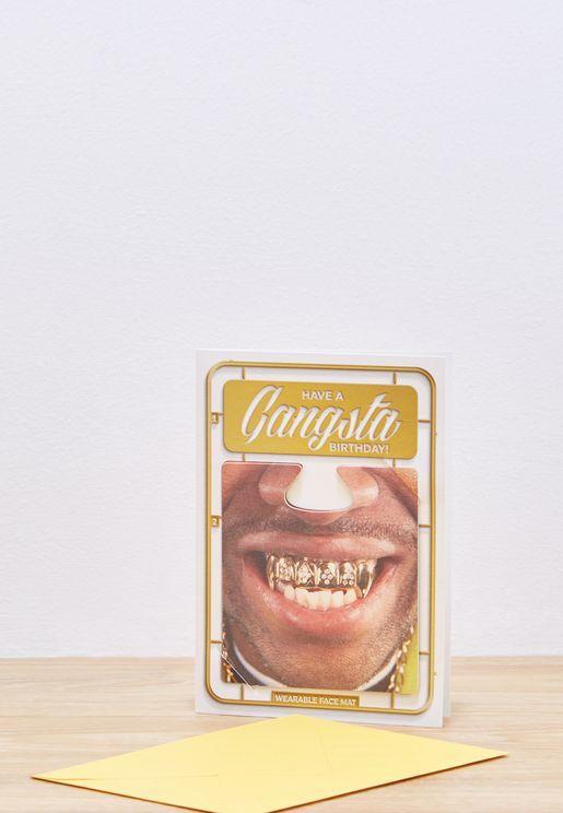 Gangsta Birthday Card