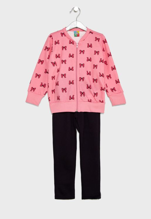 Little Printed Jacket + Sweatpants Set