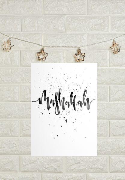 A3 Mashallah Poster