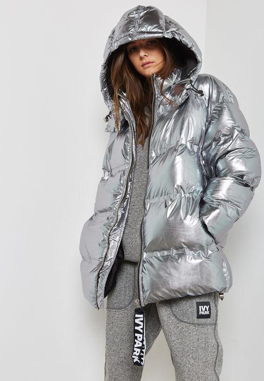 Metallic Puffa Jacket