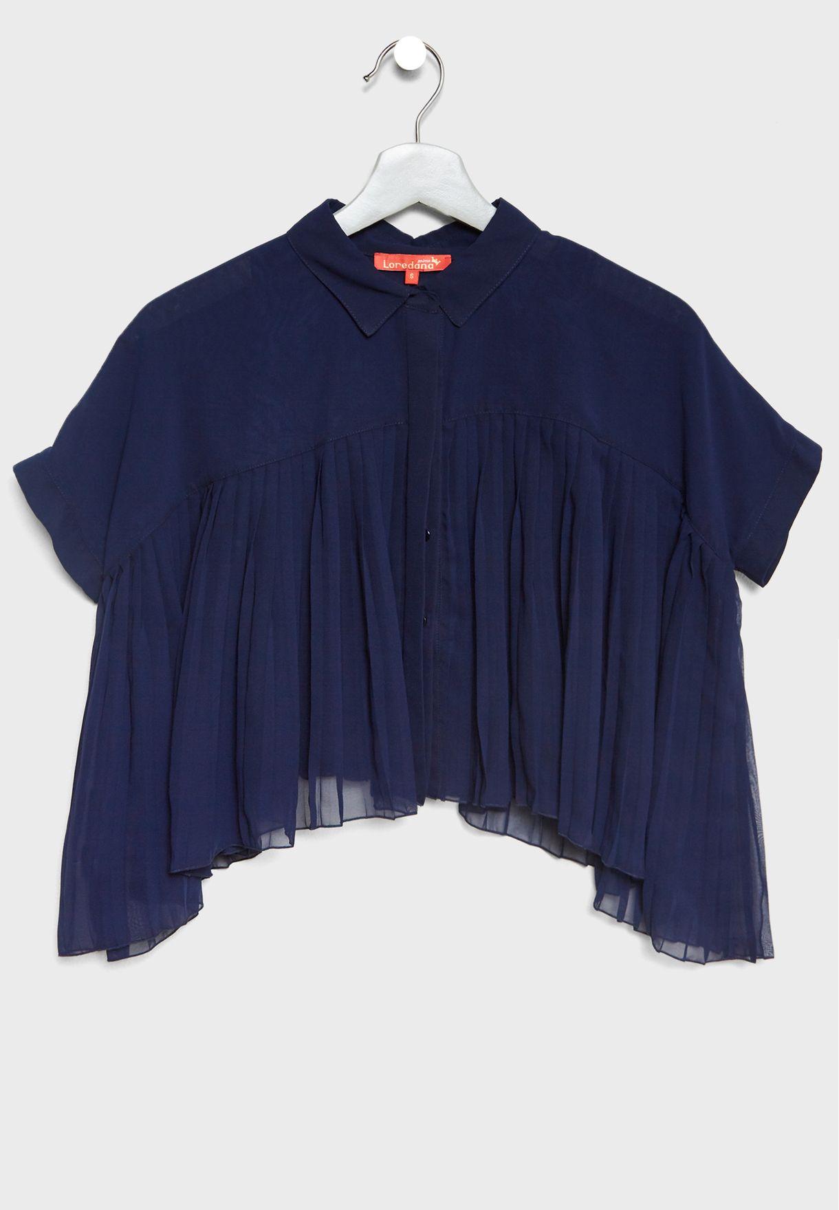 قميص كاجوال + بلوزة كت