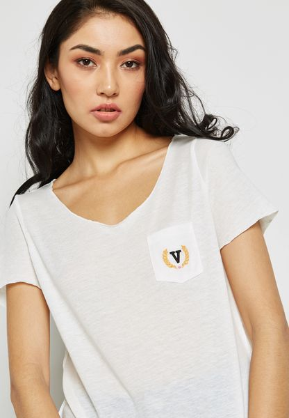 Embroidered Detail T-Shirt