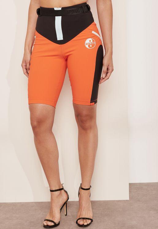 Paneled Biker Shorts