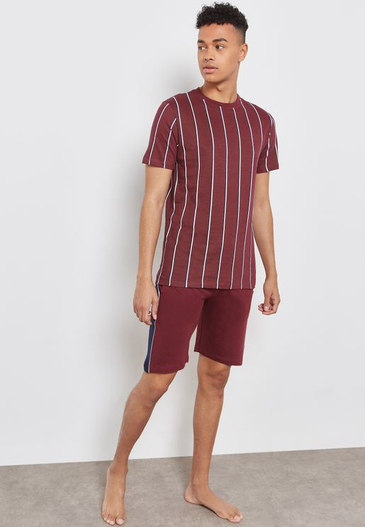 Vertical Stripe Pyjama Set