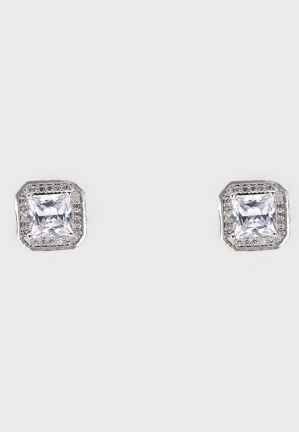 Luxuryfine  Princess Cut Studs