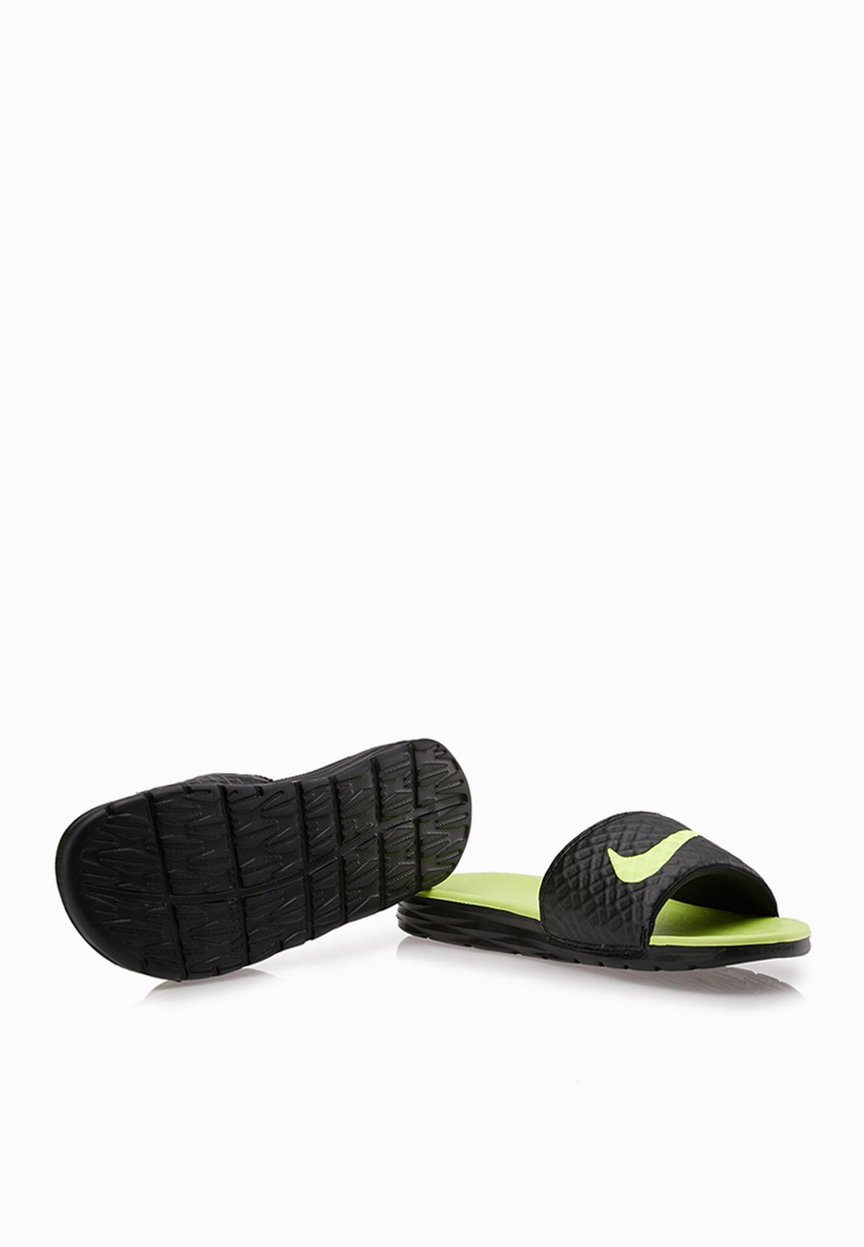 25f20b85c Shop Nike black Benassi Solarsoft Slide 2 705474-070 for Men in ...