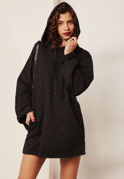 Wide Sleeve Hooded Dress