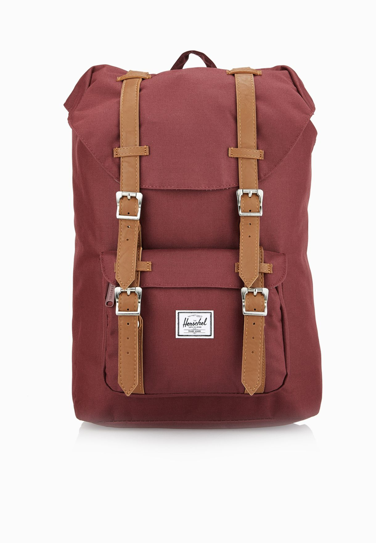 0c7e9ba353a Shop Herschel red Little America Mid Backpack 17L 10020-00746-OS for ...