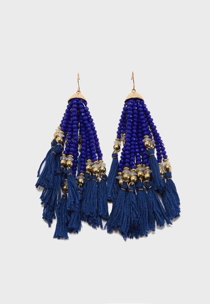 Seedbead Tassel Earrings