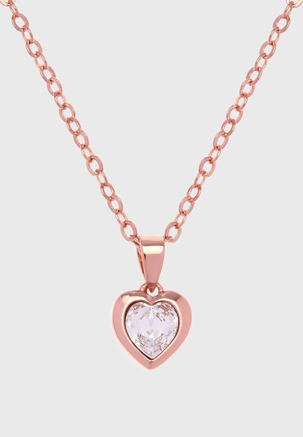 Hannela Crystal Heart Pendant Necklace