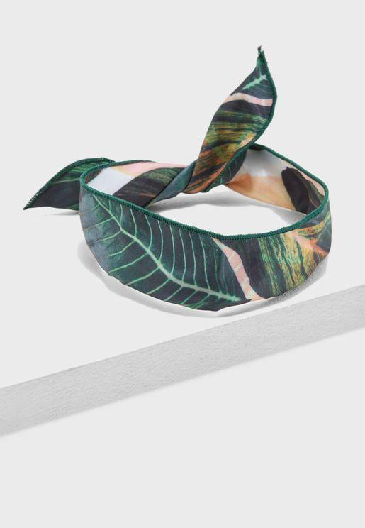 Leaf Print Headband