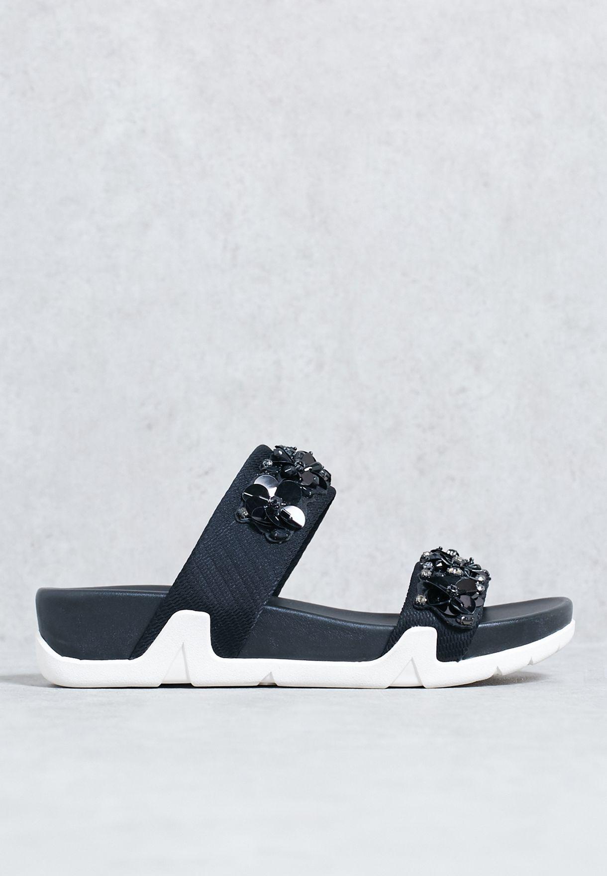 f3ce6d6feb4e Shop Ash black Miss Lace Sandals A13121 for Women in UAE - AS742SH04IUD