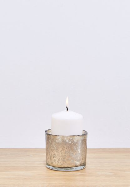 Small Hand Blown Candle Holder