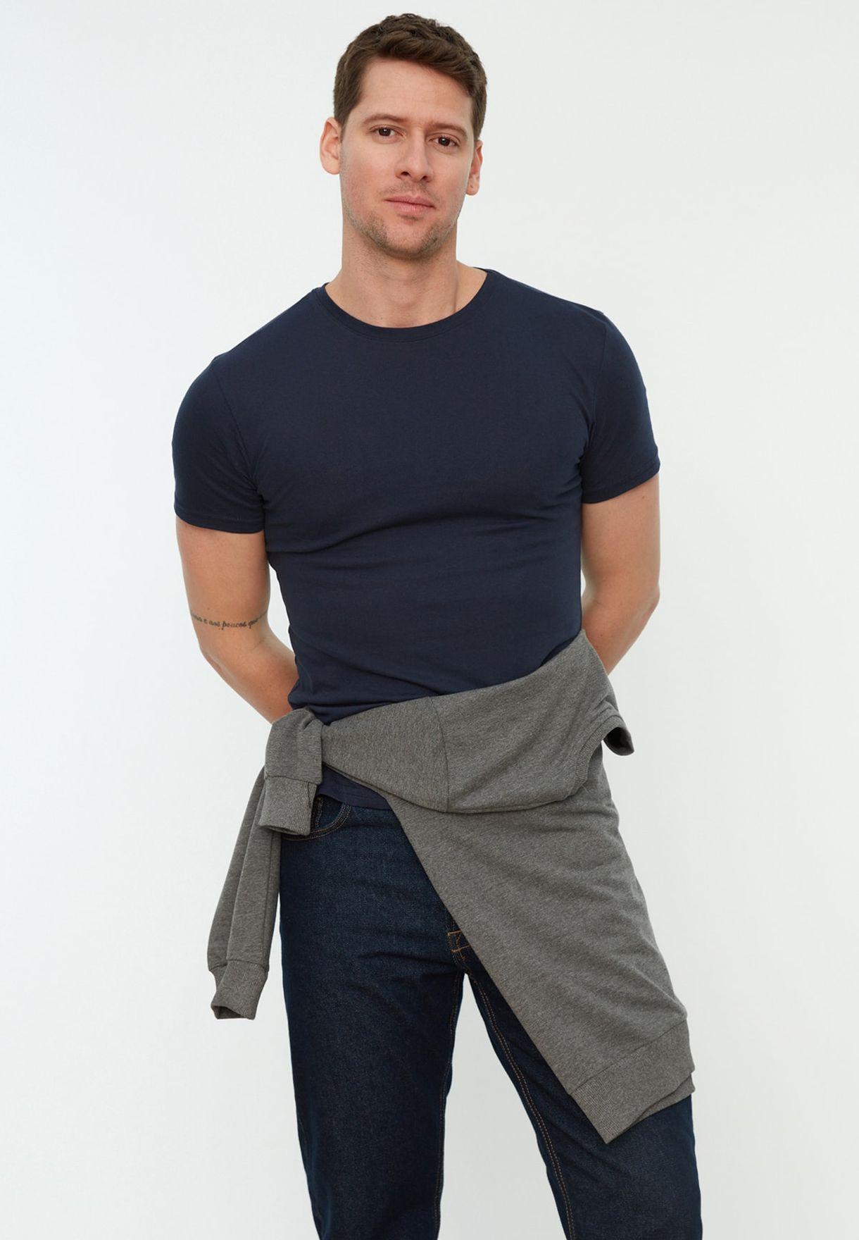 3 Pack Essential Crew Neck T-Shirt