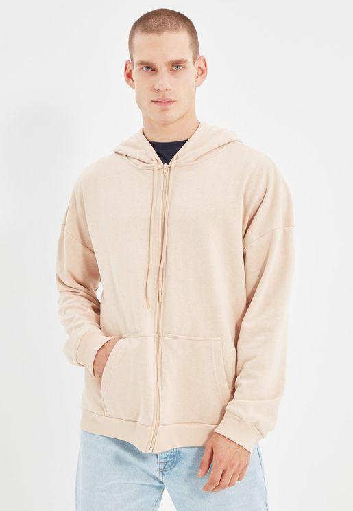 Essential Oversize Zip Through Hoodie