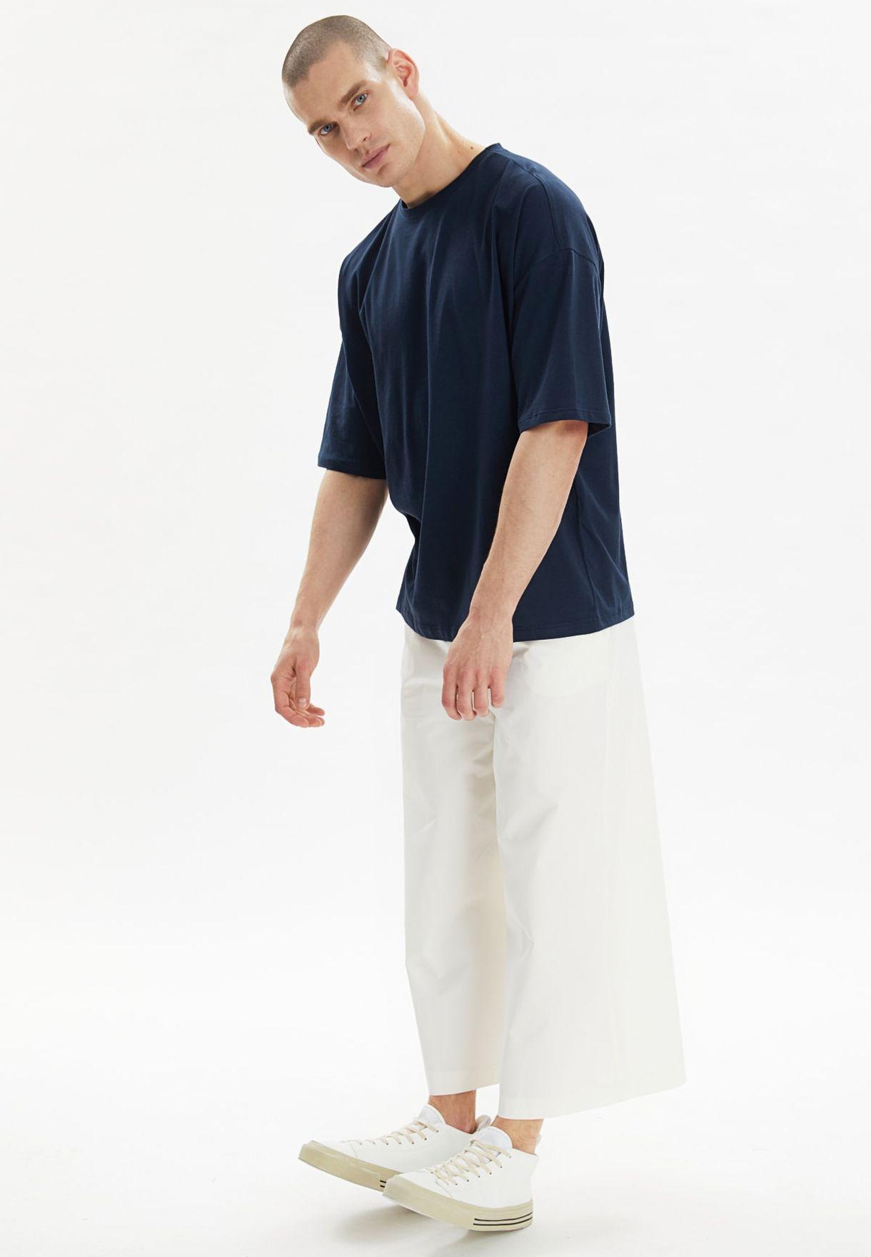 Back Print Oversize Crew Neck T-Shirt