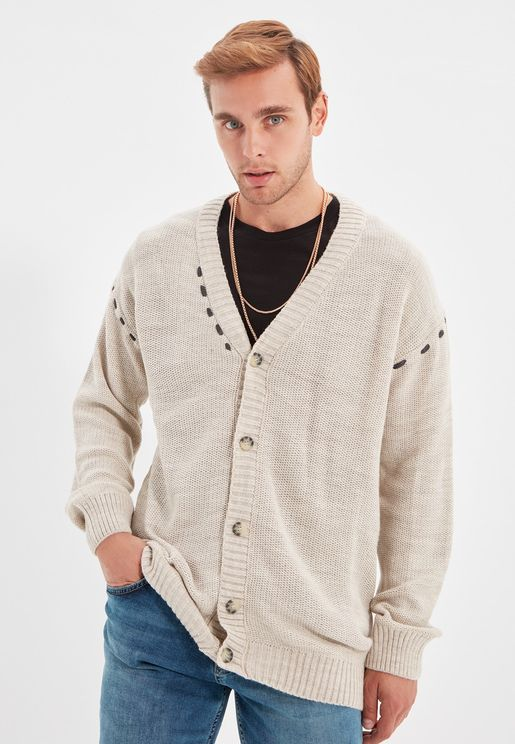 Knitted Button Cardigan