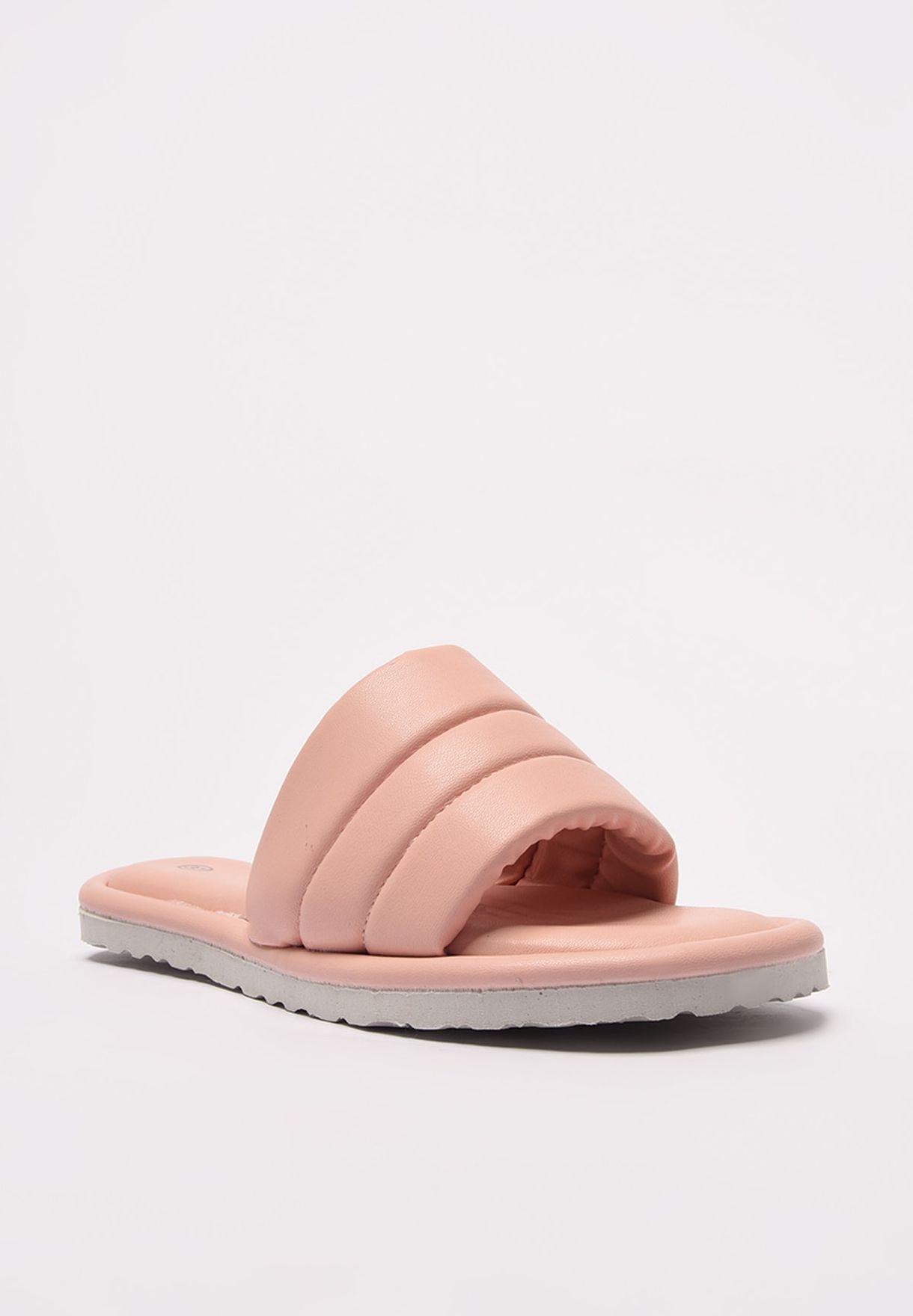 Wide Strap Low Heel Sandal