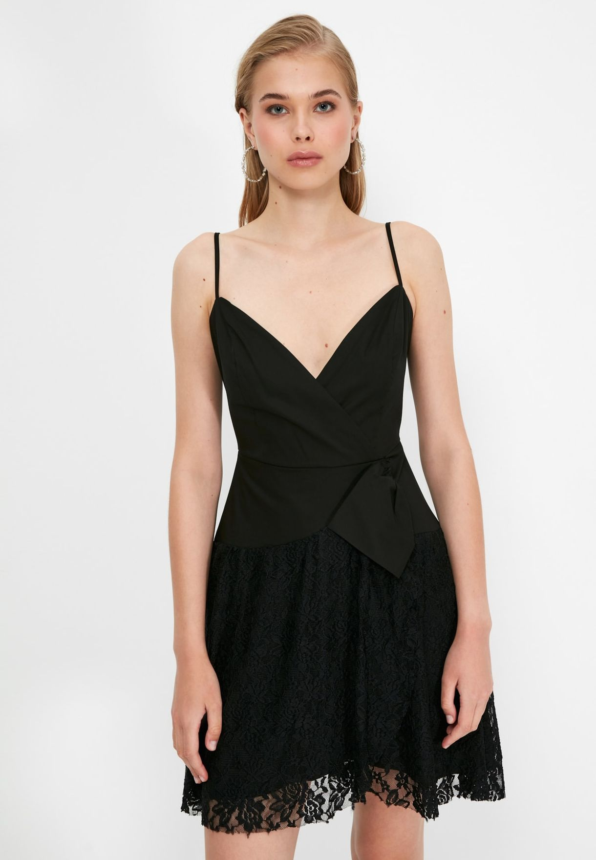 Pleated Knitted Dress