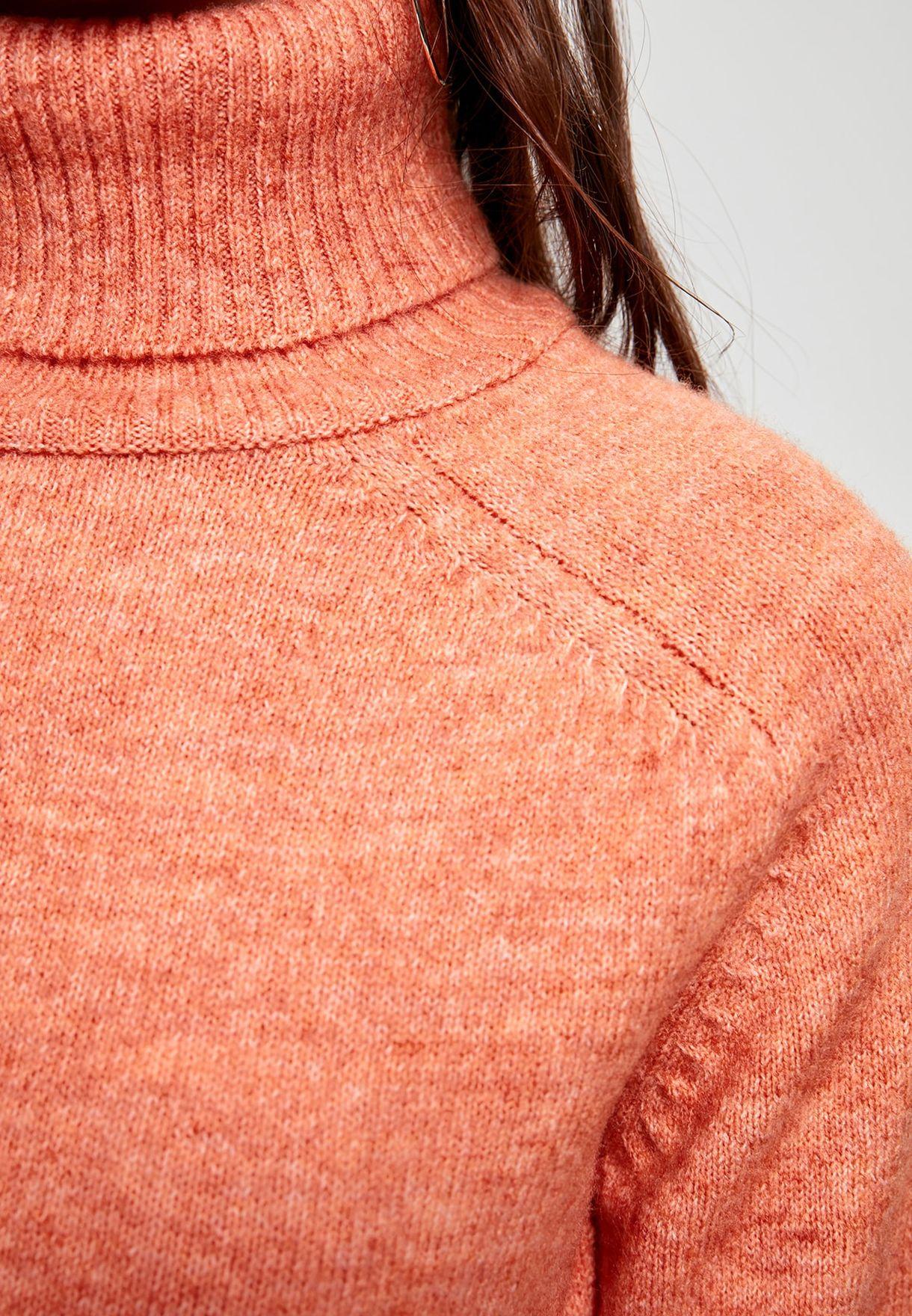 Buy Trendyol Orange Turtle Neck Sweater For Women, Uae 27680athhdcp