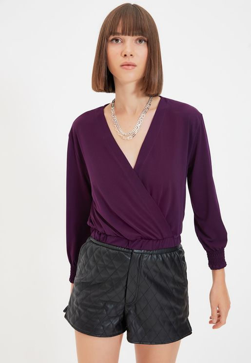 Knitted Wrap Top