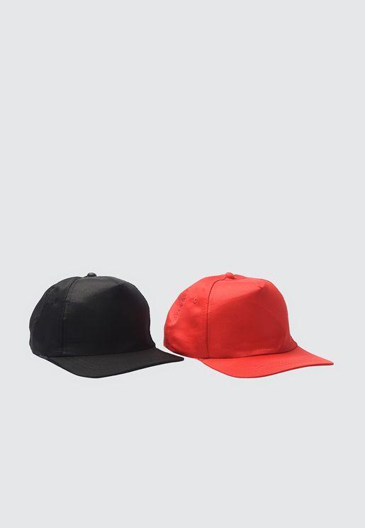 2-Pack Curved Peak Cap