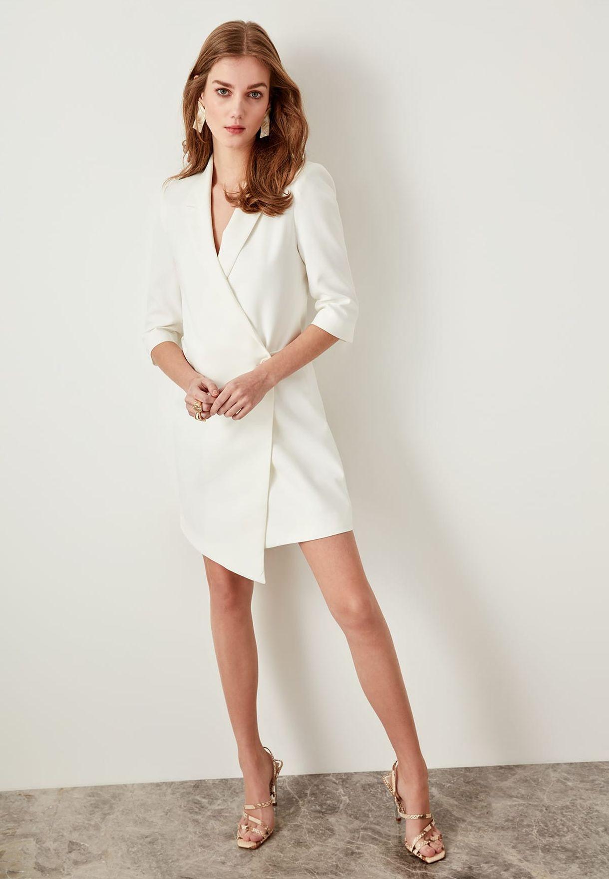 Trendyol Asymmetric Blazer Dress - Fashion
