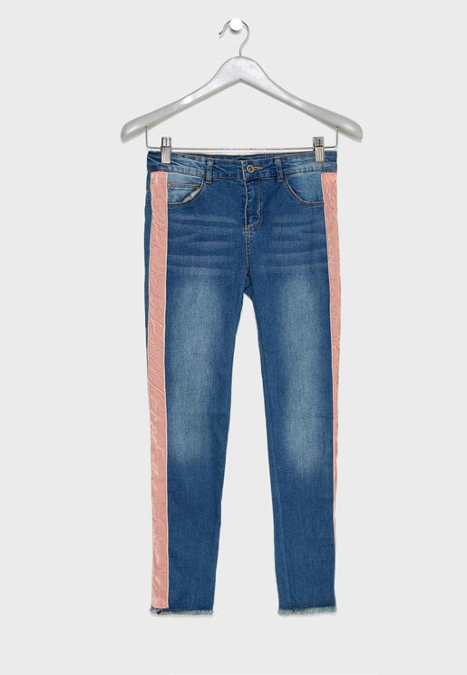 Teen Side Tape Jeans