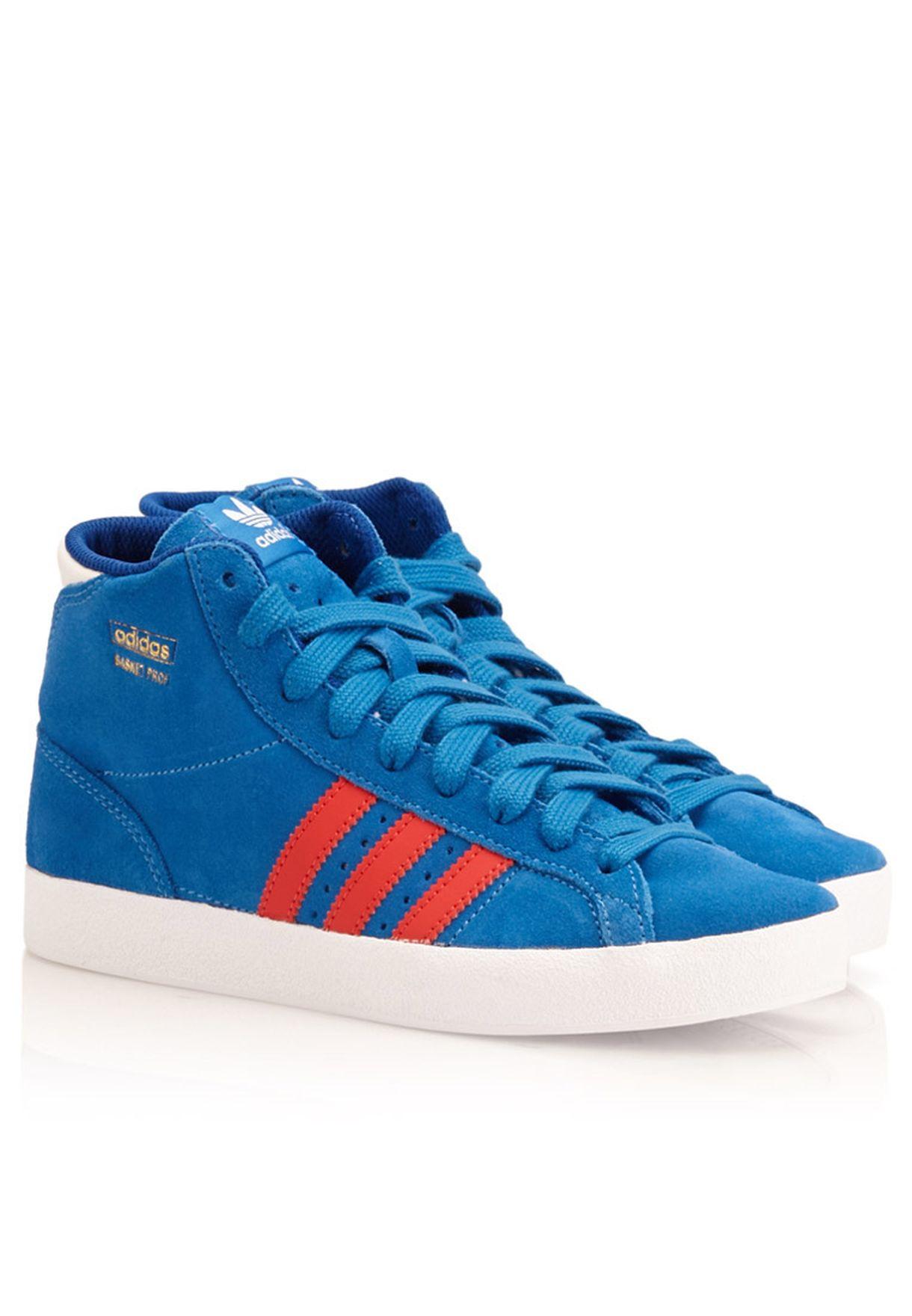 timeless design 72a74 9ddbb Shop adidas Originals blue Basket Profi M25180 for Kids in Qatar -  AD478SH93RIC