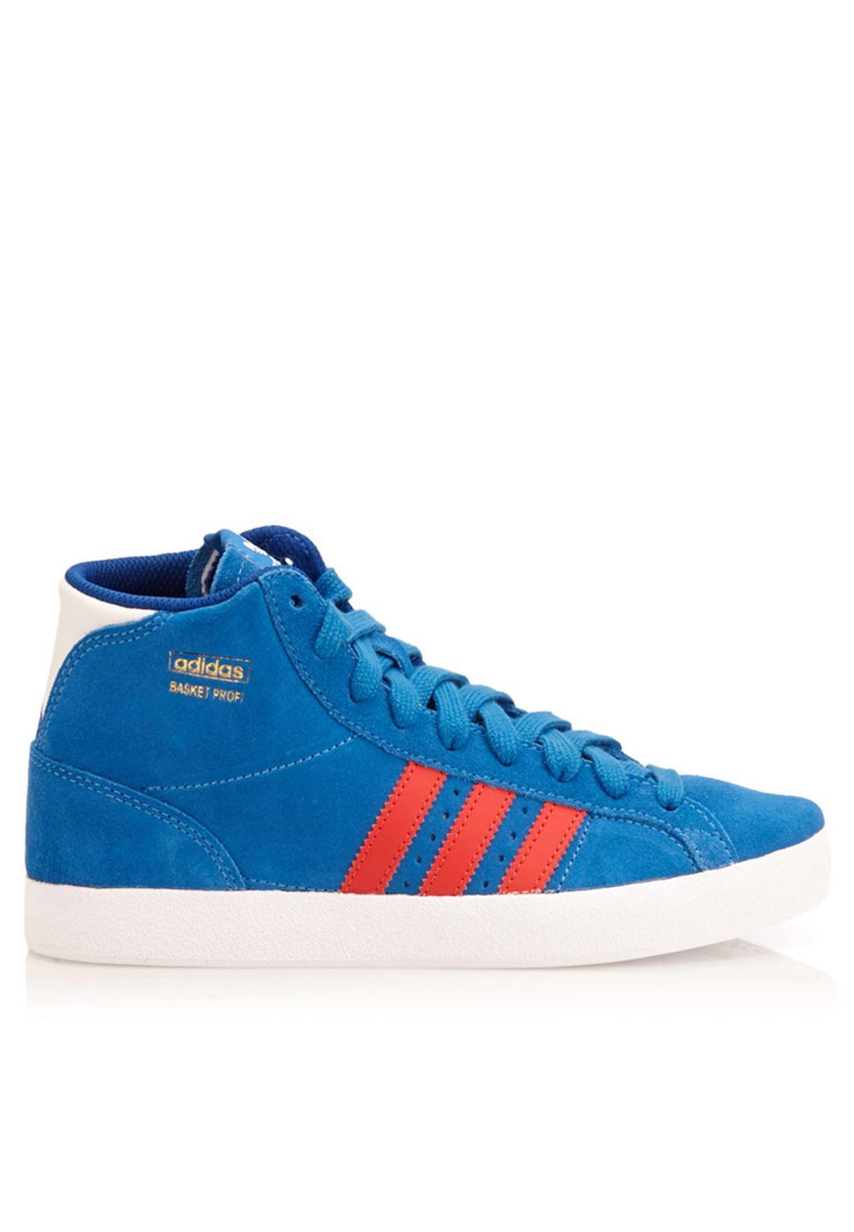 low priced 937ac a667f Shop adidas Originals blue Basket Profi M25180 for Kids in Qatar ...