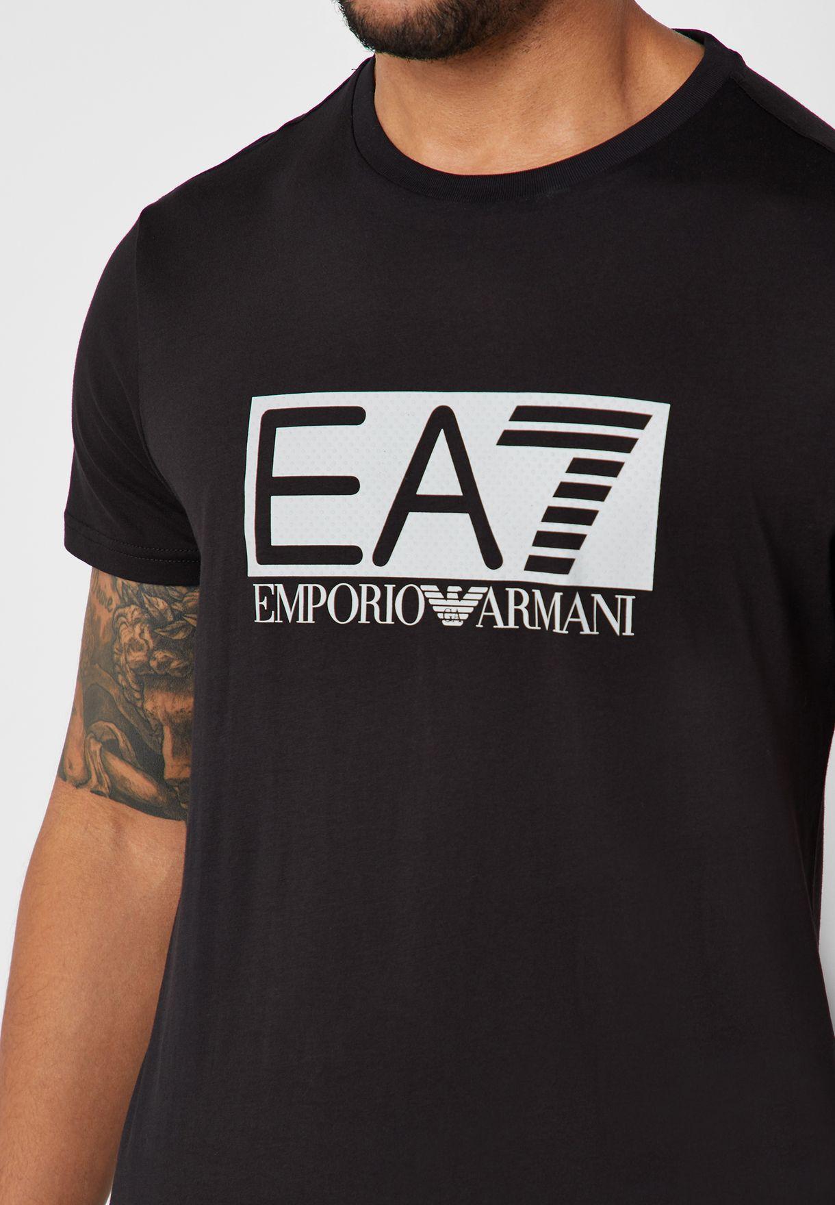 Logo Block Crew Neck T-Shirt