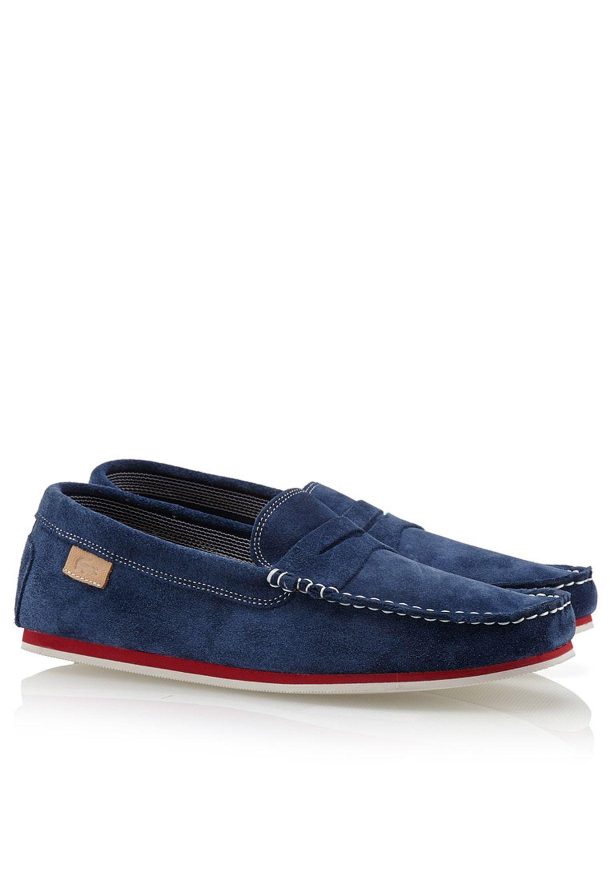 8c8dd5925a972 Shop Lacoste blue Loafers  amp  Mocassins 27SRM1211-120 for Men in ...