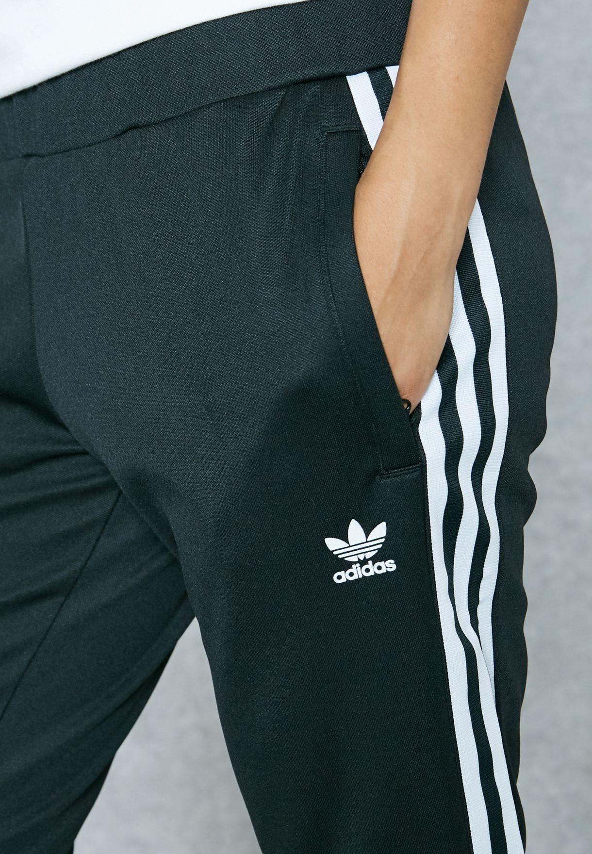 849d64232a8d Shop adidas Originals black Europa Tapered Sweatpants AJ8444 for ...