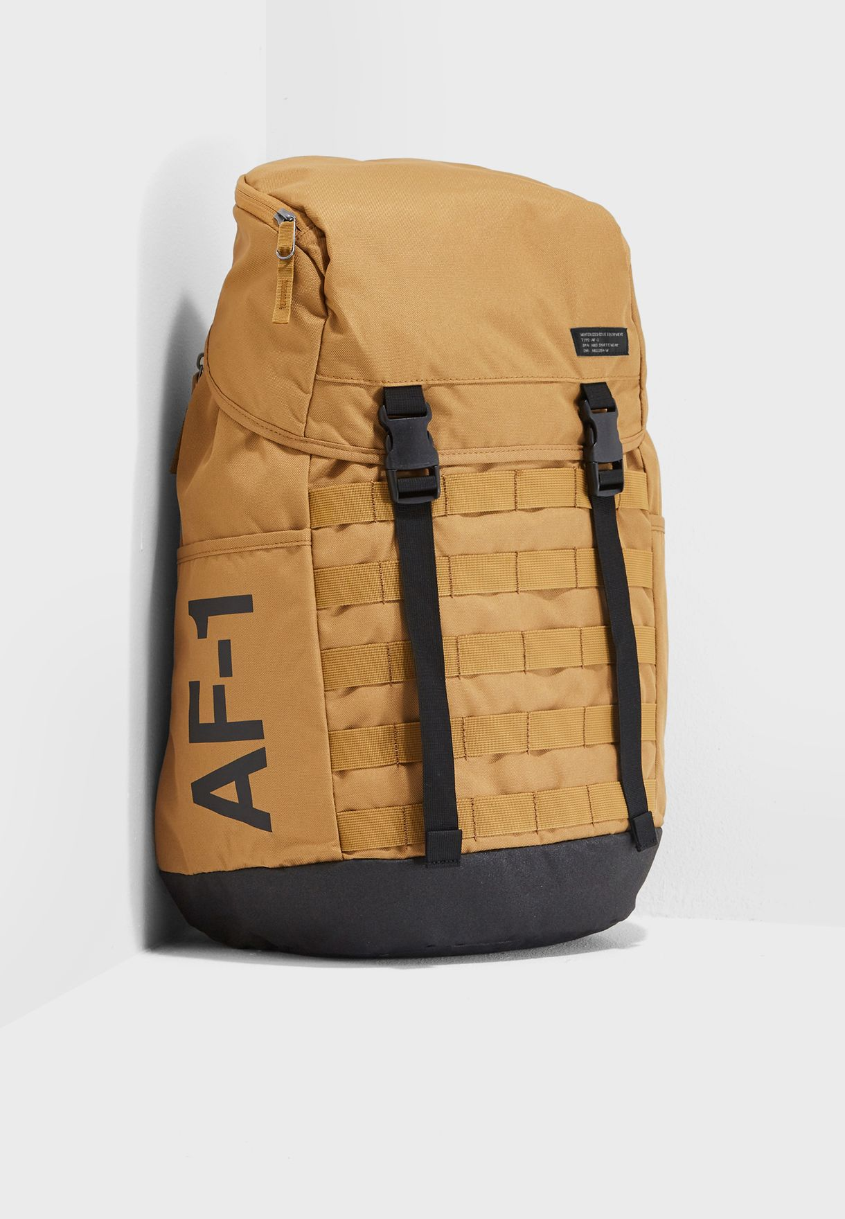 8811f714f5e Shop Nike brown AF1 Backpack BA5731-255 for Men in UAE - NI727AC93HBA