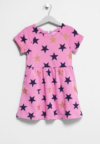 Little Big Star Print Dress